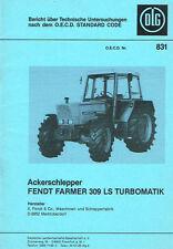 Fendt Farmer 309 LS Turbomatik, orig. DLG- Bericht 1982
