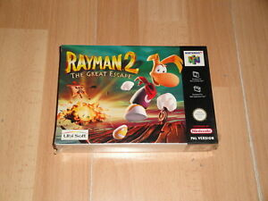 RAYMAN 2 THE GREAT ESCAPE PAL EUROPE VERSION FOR NINTENDO 64 NEW FACTORY SEALED