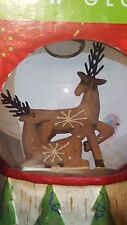 North Pole Trading Co. Musical Snow Globe Reindeer White Christmas JCP JcPenny