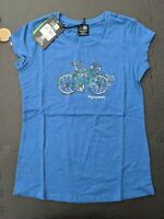 KARRIMOR Women's Organic T Shirt Short Sleeves Tee Top Blue - SIZE UK 8