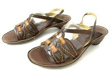 "PIKOLINOS Spain Womens Strappy Sandal Brown Rust Leather 2.5"" Heel EU 40"