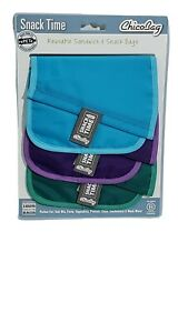 Snack Time rePETe Set of 3 Adjustable Sandwich Snack Bags New