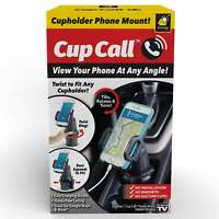 Official As Seen On TV Cup Call Cup Holder Phone Mount for Car by BulbHead -