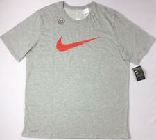 New Nike Dri Fit Athletic Cut Swoosh Logo T Shirt 4XL 4X XXXXL Royal Blue