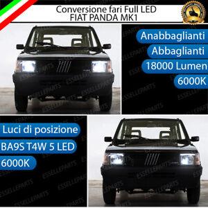 CONVERSIONE FARI A LED FIAT PANDA MK1 6000K LED CANBUS XENON ALTA LUMINOSITA'