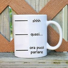Tazza frase 2 shhh ceramica ceramic mug