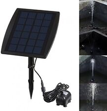 Pump Fountain Solar Powered Panel Kit Pool Garden Watering Submersible Pump NEW