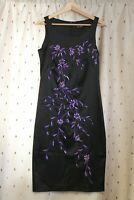 Images ~ Black Embroidered Floral Dress With Stretch ~ Size 12