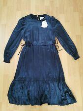 L k bennett dr Noemi midnight silk blend velvet dress size uk 10/12 bnwt