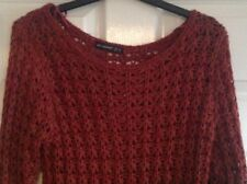 Gorgeous Womens Atmosphere Acrylic Red Ribbed Jumper Top 12