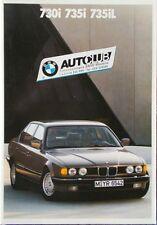 Prospekt BMW 7er E32 730i - 735i - 735iL - 2/88 -  40 Seiten! italienisch - ital