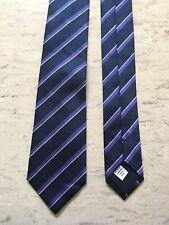 "Banana Republic navy striped smart silk tie 2.8"" wide 57"" long"
