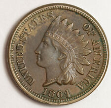 1864 Indian Head Cent.  Copper Nickel.  Rotated Reverse.  XF-AU.  151455