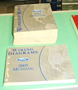 2005 Ford Mustang Factory Service Shop Manual + Wiring Diagrams Book