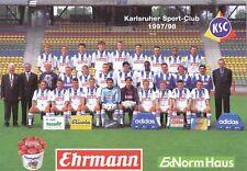 Karlsruher SC   Mannschaftskarte 1997/98  nicht signiert 357657
