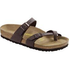 Birkenstock Mayari Brown Womens Leather Sandals Shoes 3 UK 36 EU 5 US