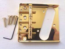 3 SADDLE GOLD CHROME VINTAGE ASHTRAY BRIDGE FOR FENDER TELECASTER