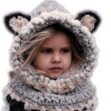 BERRETTO LANA FATTO A MANO GRIGIO BAMBINO CON ORECCHIETTE - Cute Baby Cap Ear