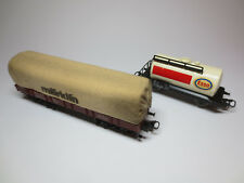 MÄRKLIN H0 4475 Planewagen Niederbordwagen u. 4441 Esso Tankwagen (136.)