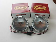 JEEP CJ 5,7,8 FRONT PARKING TURN SIGNAL LAMP ASSYS PAIR CORRECT LENSES 1976-1986