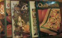 Lot Of 6 Hardcover Quilting Christmas Books