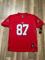 NWTs NFL New England Patriots Gronkowski #87 Red Jersey Youth XL Men's Small