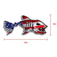 Creative USA Bone Fish American Flag Car Accessories Bumper Window Decal Sticker