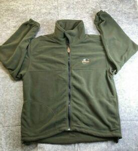 Mossy Oak Mens L Large Performance Fleece Jacket Green Hunting Sweater