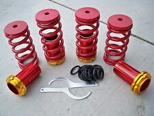 88-00 Civic 94-01 Integra Lowering Coilovers Sleeves Adjustable Red Springs Gold