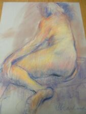 New ListingPastel Drawing Of Female Nude By Charlena
