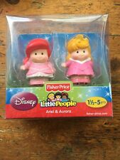 DISNEY Fisher Price Little People ARIEL and AURORA Princess - NEW!