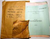Kit Visserie US NOS NIB & documentation pour installation radio SCR508 sur char