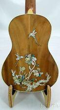 Alulu Solid Acacia Koa Tenor Ukulele,hummingbird MOP inlaid,hard case,HUA570