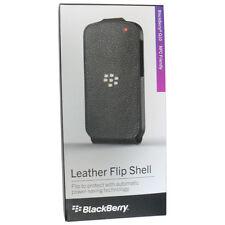 BlackBerry Acc-50707-301 Black Leather Flip Shell Case for Blackberry Q10