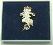 REME ROYAL ELECTRICAL MECHANICAL ENGINEERS Q CLASSIC GOLD PLATED LAPEL PIN BADGE