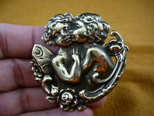(b-ang-35) Cupid cherub angel boy girl roses pin pendant love Wow