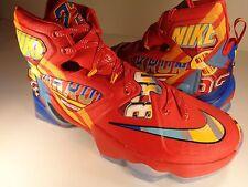 Nike Lebron 13 XIII Promo EYBL Sample PE Red SZ 7.5 // Womens 9 (843801-696)