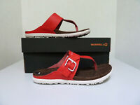New Women`s Merrell Around Town Leather Post Thong Sandals J03736