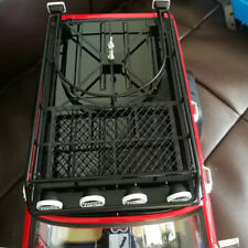 Metal Roof Rack with 4LED Lights for 1:10 RC Rock Crawler SCX10