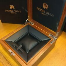 PIERRE KUNZ LARGE WOODEN WATCH BOX WITH OUTER  MA38