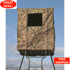 2-Man Tower Hunting Blind Water Resist Scent Control Steel Frame Hunt Outdoors
