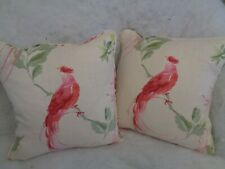 """NEW LISTING ! HAREWOOD BY LAURA ASHLEY 1 PAIR OF 18""""CUSHION COVERS VISCOSE/LINEN"""