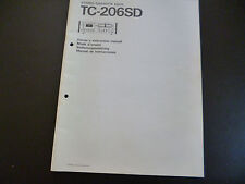 ORIGINALE owners instruction manual Sony tc-2060sd