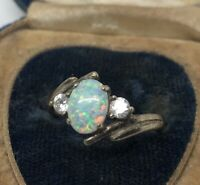 Vintage Sterling Silver Ring 925 Size 7.5 Opal AN