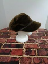 Giovannio Florance New York Brown Faux Fur 60's Hippy Hat Retro Fashion