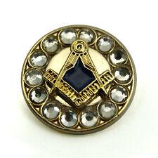 Freemasons Gold Coloured Square & Compass Masonic Lapel Pin LP83