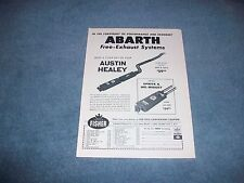 "Abarth Exhaust Vintage Ad ""Make A Tiger Out of your Austin Healey"" 3000 Sprite"