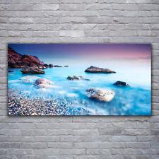 Acrylglasbilder Wandbilder Druck 120x60 Meer Steine Strand Landschaft