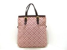Auth LOUIS VUITTON Francoise M92210 Cherry Monogram Mini Cotton Leather  SP0032 2fc01d12114bd