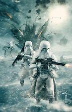 Star Wars Snow Trooper Original Art Print (11x17) signed by artist Scott Harben